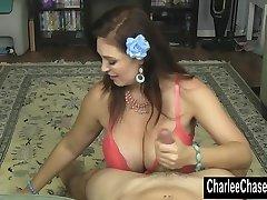 Smoking Warm MILF Charlee Chase Jerks a Hard Cock!