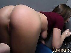 Teen milks bbc for cum