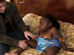 Crazy black midget chick is getting fucked hard