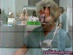 Horny lesbian nurses donk rimming free partFour