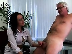 British femdom office gals jack CFNM office perv