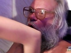 Teen Sensual Cock Massage and Pussy fuck with big pink cigar granddad super hot
