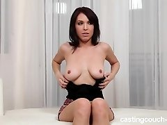 Mature reserved Brunette tears up on video