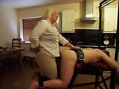 Strapon - Hot BBW Dominatrix Using Her Boytoy's Caboose