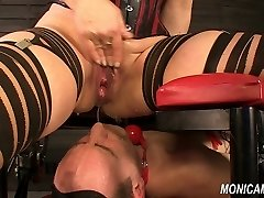 Wet and dirty female domination from MonicaMilf - Norwegian pussy-smothering