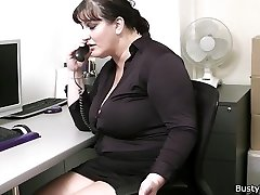 Office lovemaking with busty girls at work