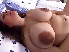 Mature big tits with xxl nipples and dildo! First-timer!