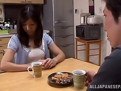 Torrid mature Asian housewife Chihiro Uehara in super hot 69