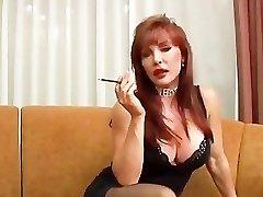 Mature Vanessa smoking and romping