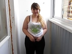 Russian, Thick Girl With By A Pussy Unshaved, Pee For You:)