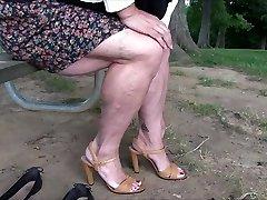 Demonstrating Muscular Legs