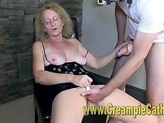 Cougar Gets A Creampie