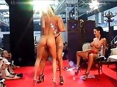 Three Nasty Chicks Polish Naked On Stage