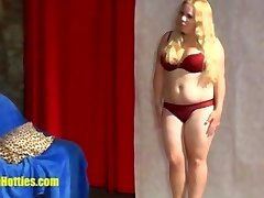 Cute 18yo fatty demonstrates her monstrous body at the fir