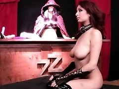 Squirting latex sandy-haired with saggy tits
