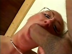 Big Jugs German MILF Wearing Glasses
