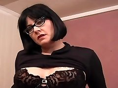 Tatted Chubby MILF Glasses - Dildo Play