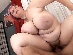 BBW with big breasts fucked