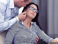 Busy huge-chested hotty in glasses Chanel Lux gets disturbed with hot analfuck