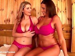 DDF Huge-boobed - Katerina Hartlova and Sensuous Jane Big tits and Orgasms