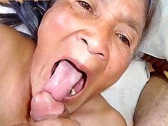 Old latina amateur granny  with big tits and big ass