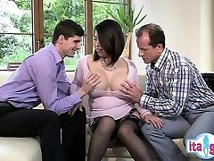 Sexy amateur gargle swallow