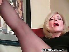 Slutty blond mum with big tits partFour
