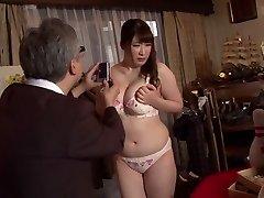 Kinky Japanese super-bitch Chitose Saegusa in Crazy public, striptease JAV video