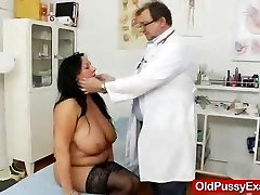Adult Toy in muff during a wifey gyno