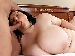 Busty Teen BBW Catches Schoolteacher Sunbathing in the Nude