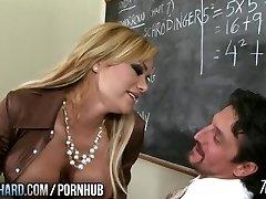 Hot milf fucks teacher