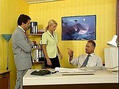Nicoletta Blue-Secretary torn up in the Office