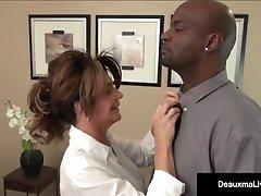 Milf Boss, Deauxma, Can't Fire Her Best Employee's Ebony Beefstick!