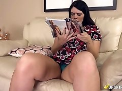 Voluptuous all alone nympho Kylie K uncovers her sumptuous thighs and big booty