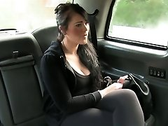 Brit plus-size fucked in fake taxi in public