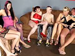 Claudia W & Wonderful Jessy & Daniela Advertisement in First-timer German Homemade Orgy - MMVFilms