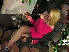 Ass-fuck encounter with buxom blond Russian girl