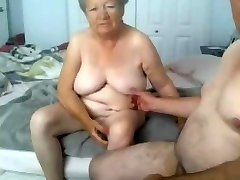 Grandmother and grandpa naked on cam