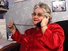BBW granny deepthroats and fucks in stockings