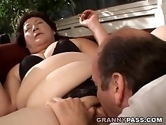BBW Grandmother Gets Her Fat Pussy Stuffed