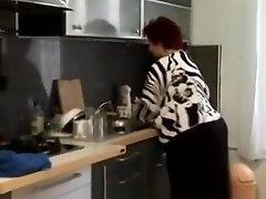 Immense BBW granny ravaged in the kitchen
