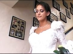 Bride & a hottie share a large penis