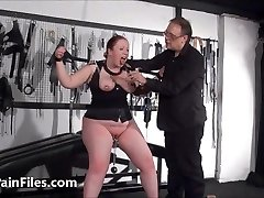 Plumper slave RosieB melon tortured and sadistic amateur bdsm of f