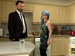 British spex slut spanked into submission