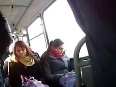 Flashing a big wood for a curious chick in the bus