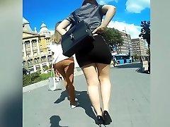 perfect donk in sluty miniskirt