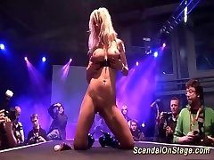 pliable MILF on show stage