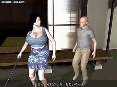 Animated milf with immense breasts