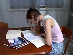 Ginormous dick guy helps to study