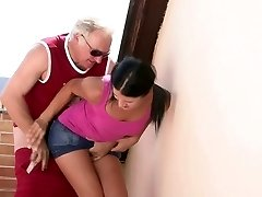 Insane old man seduces his sonny's GF